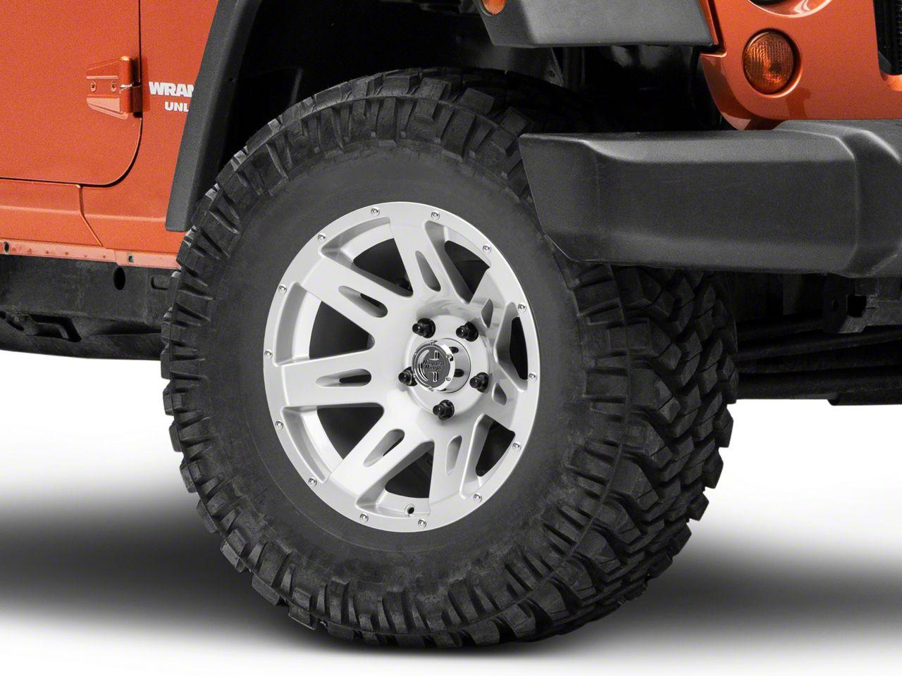 Rugged Ridge XHD Aluminum Silver Wheel - 17x9 (07-18 Jeep Wrangler JK; 2018 Jeep Wrangler JL)