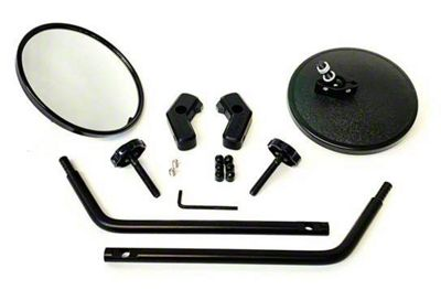 Lange Quick Mirror I - Black (97-06 Jeep Wrangler TJ)