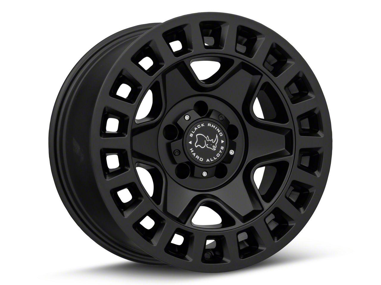 Black Rhino York Matte Black Wheel - 18x9 (07-18 Jeep Wrangler JK; 2018 Jeep Wrangler JL)