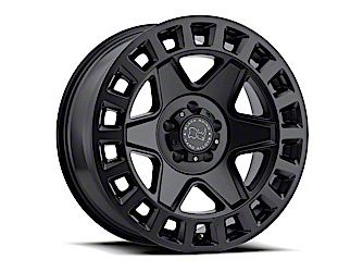 Black Rhino York Matte Black Wheel - 17x9 (07-18 Jeep Wrangler JK; 2018 Jeep Wrangler JL)