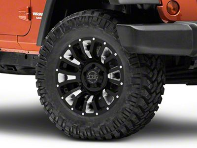 Black Rhino Pinatubo Gloss Black Wheel - 18x9.5 (07-18 Jeep Wrangler JK; 2018 Jeep Wrangler JL)