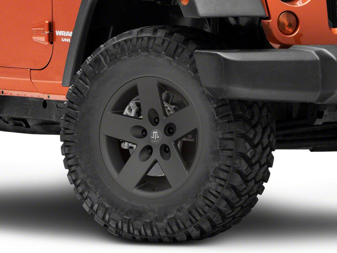Mammoth Moab Charcoal Wheel - 17x9 (07-18 Jeep Wrangler JK)