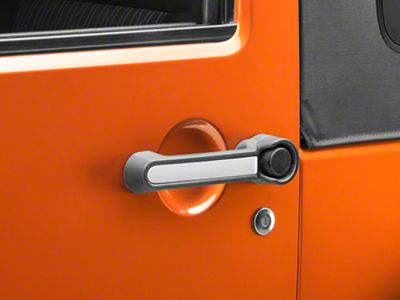 Rugged Ridge Elite Door Handle Inserts - Aluminum (07-18 Jeep Wrangler JK 2 Door)