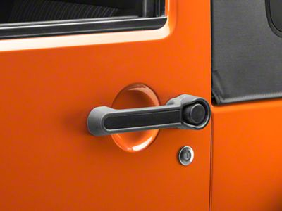 Rugged Ridge Elite Door Handle Inserts - Black (07-18 Jeep Wrangler JK 2 Door)