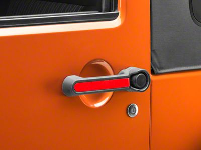 Rugged Ridge Elite Door Handle Inserts - Red (07-18 Jeep Wrangler JK 2 Door)