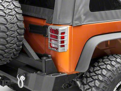 Rugged Ridge Elite Tail Light Guards - Unpainted (07-18 Jeep Wrangler JK)