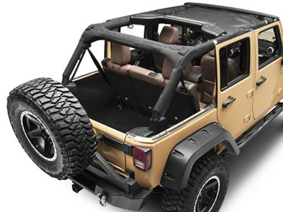 Rugged Ridge Front Hard Top Sun Shade - Black (07-18 Jeep Wrangler JK)
