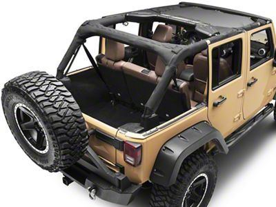 Rugged Ridge Front Soft Top Total Eclipse Shade (07-18 Jeep Wrangler JK)