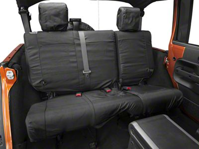 Rugged Ridge Ballistic Rear Seat Cover - Black (07-18 Jeep Wrangler JK 4 Door)