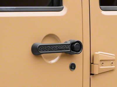 Rugged Ridge Elite Door Handle Inserts - Black Tread (07-18 Jeep Wrangler JK 4 Door)