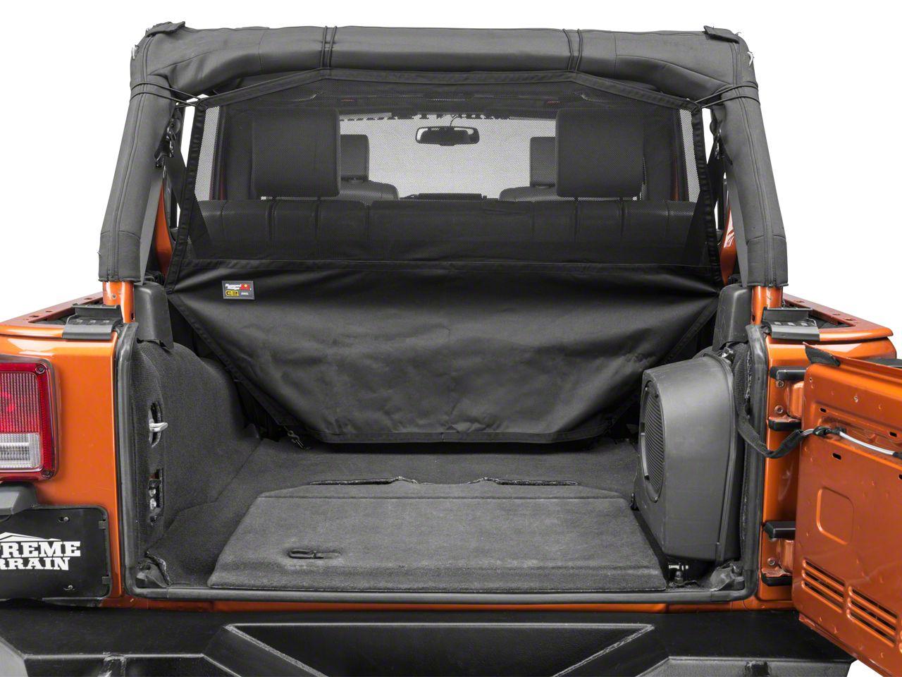 Rugged Ridge Rear C2 Cargo Curtain (07-18 Jeep Wrangler JK 4 Door; 18-19 Jeep Wrangler JL 4 Door)