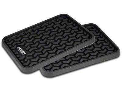 Rugged Ridge Rear Floor Mats - Black (87-19 Jeep Wrangler YJ, TJ, JK & JL)