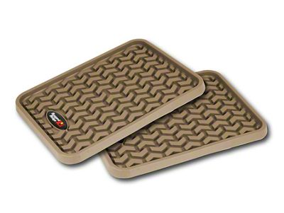 Rugged Ridge Rear Floor Mats - Tan (87-19 Jeep Wrangler YJ, TJ, JK & JL)