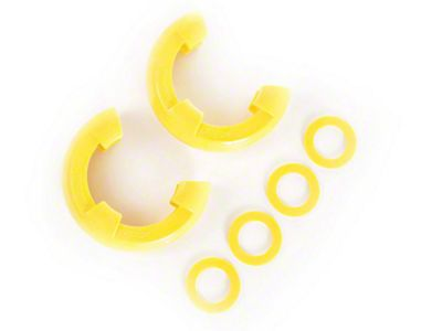 Rugged Ridge 3/4 in. Yellow D-Shackle Isolators - Pair