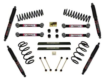 SkyJacker 4 in. Standard Suspsension Lift Kit w/ Black MAX Shocks (97-02 Jeep Wrangler TJ)