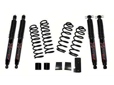 SkyJacker 2.5 in. Softride Suspension Lift Kit w/ Black MAX Shocks (07-18 Jeep Wrangler JK 2 Door)