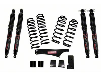 SkyJacker 2.5 in. Softride Suspension Lift Kit w/ Black MAX Shocks (07-18 Jeep Wrangler JK 4 Door)