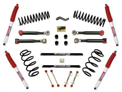 SkyJacker 4 in. Single Flex Standard Series Lift Kit w/ Hydro Shocks (97-02 Jeep Wrangler TJ)