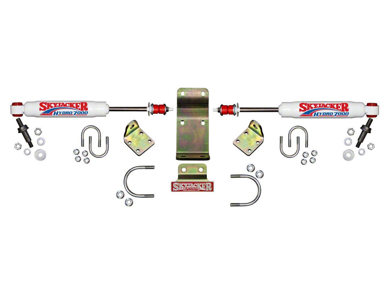 SkyJacker Hydro 7000 High Clearance Dual Steering Stabilizer Kit (07-18 Jeep Wrangler JK)