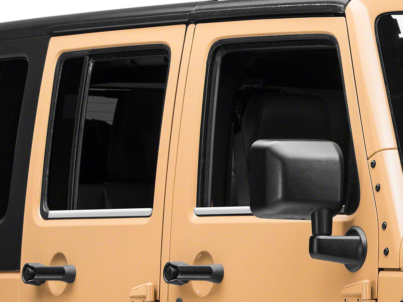 Putco Window Trim Accent - Stainless (07-18 Jeep Wrangler JK 4 Door)
