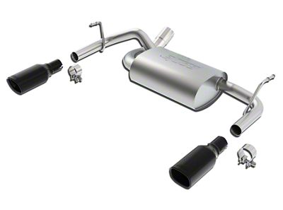 Borla Touring Axle-Back Exhaust w/ Dual Black Chrome Tips (12-18 Jeep Wrangler JK)