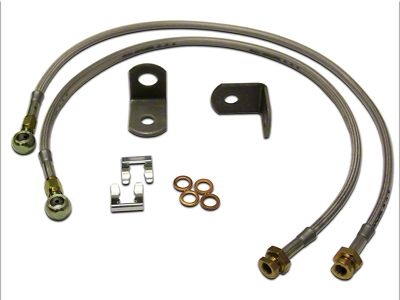 SkyJacker Front Stainless Steel Brake Lines for 3-8 in. Lift (97-06 Jeep Wrangler TJ)