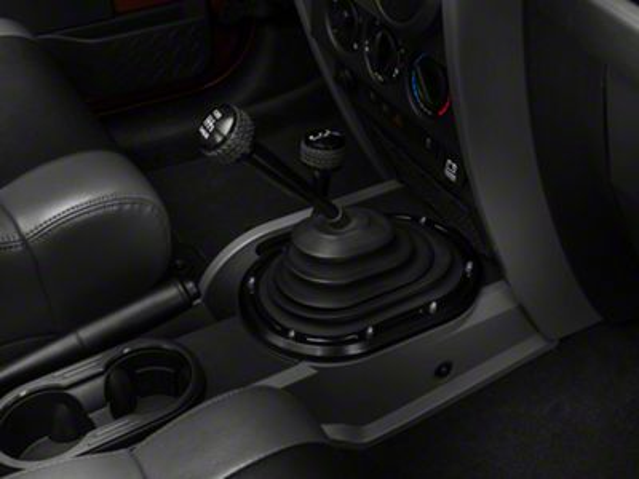 Omix-ADA Black Shifter Bezel (07-10 Jeep Wrangler JK)