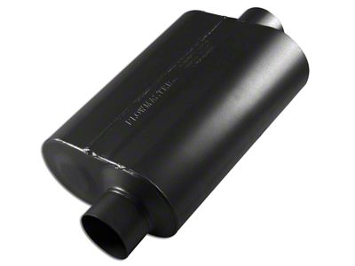 Flowmaster Super 40 Series Offset/Center Oval Muffler - 3.0 in. (97-18 Jeep Wrangler TJ & JK)
