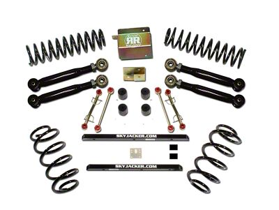 SkyJacker 2.5 in. Value Flex Suspension Lift Kit w/ Black MAX Shocks (97-06 Jeep Wrangler TJ)