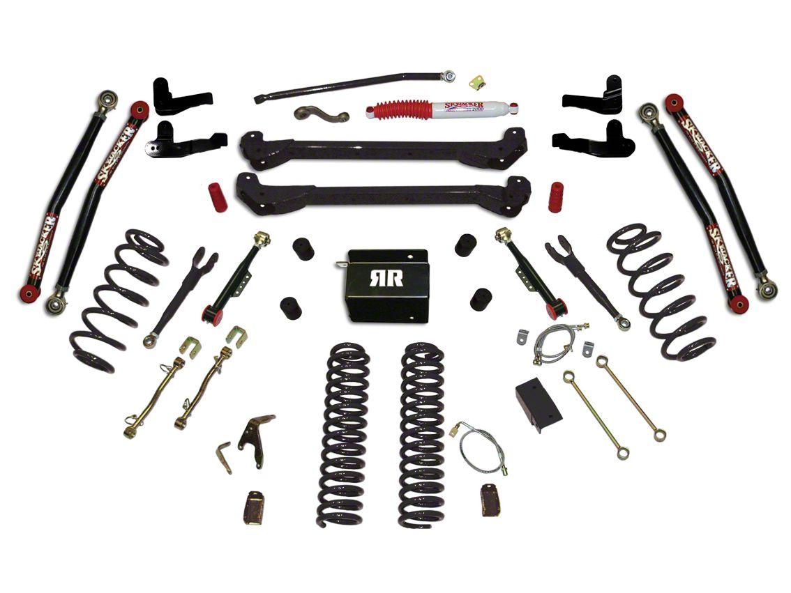 SkyJacker 6 in. Rock Ready 2 Suspension Lift Kit w/ Shocks (97-06 Jeep Wrangler TJ)