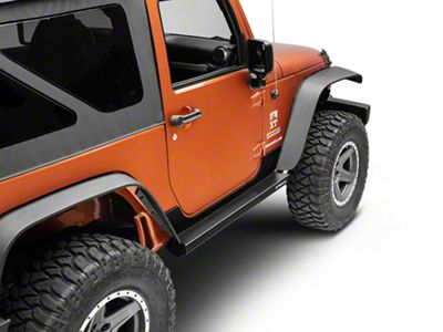 Rock-Slide Engineering Step Sliders w/ Body Armor - Textured Black (07-18 Jeep Wrangler JK 2 Door)