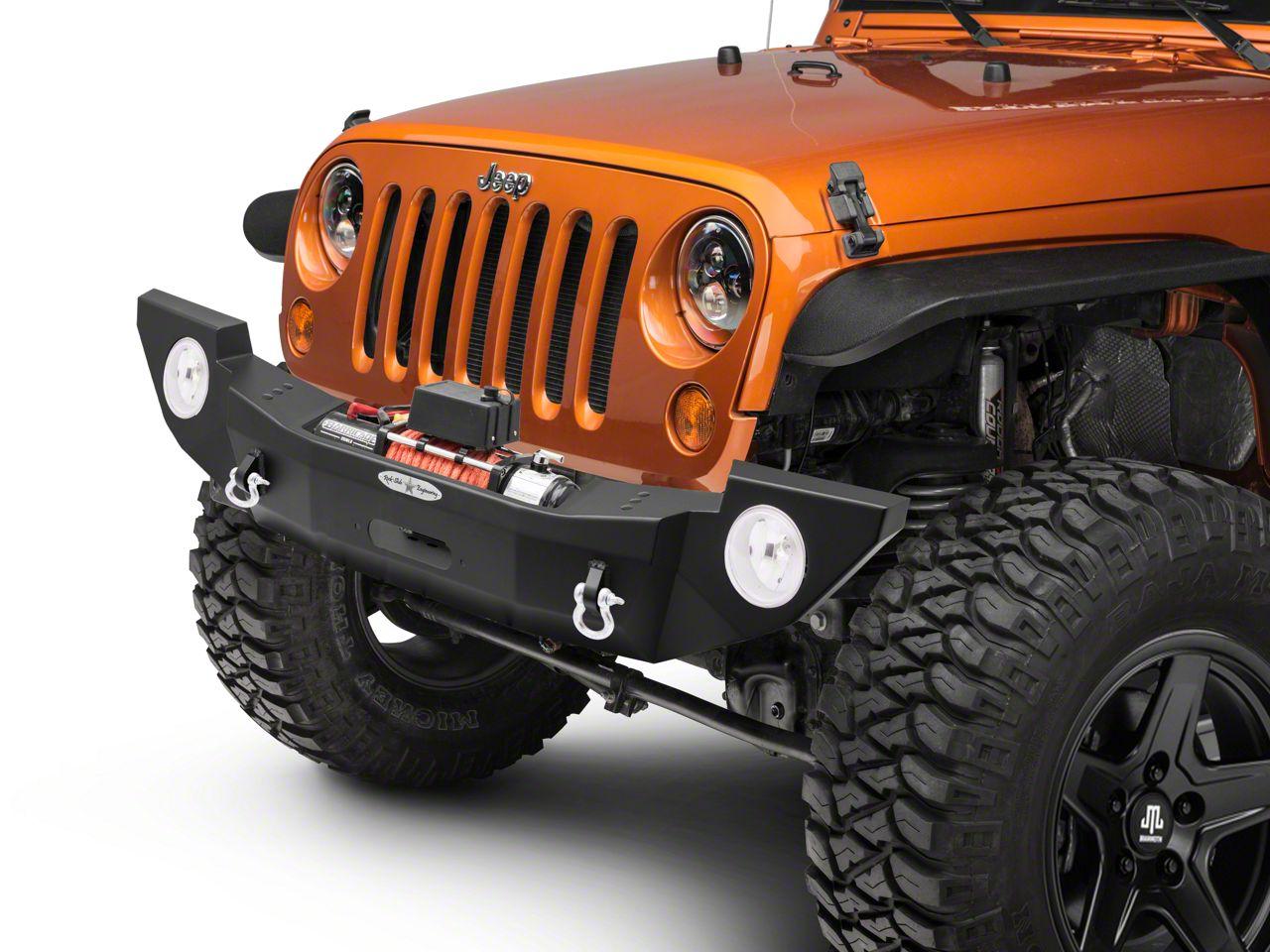 Rock-Slide Engineering Rigid Series Full Front Steel Bumper w/ Winch Plate (07-18 Jeep Wrangler JK)