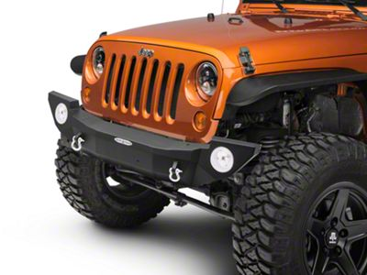 Rock-Slide Engineering Rigid Series Full Front Steel Bumper w/o Winch Plate (07-18 Jeep Wrangler JK)