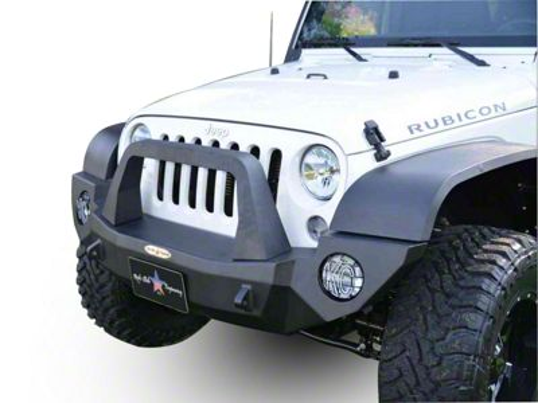 Rock-Slide Engineering Rigid Series Full Front Aluminum Bumper w/ Bull Bar (07-18 Jeep Wrangler JK)