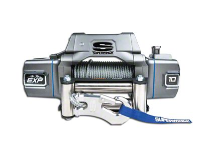 Superwinch EXP Series 10,000 lb. Winch w/ Wire Rope & Center Mount Solenoid Box (87-19 Jeep Wrangler YJ, TJ, JK & JL)