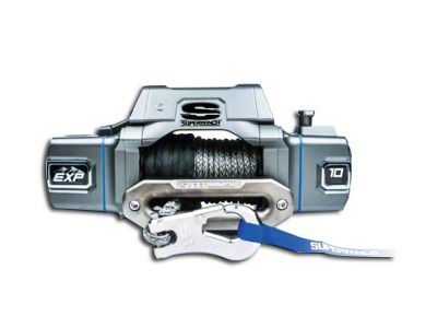 Superwinch EXP Series 10,000 lb. Winch w/ Synthetic Rope & Center Mount Solenoid Box (87-19 Jeep Wrangler YJ, TJ, JK & JL)