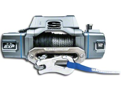 Superwinch EXP Series 12,000 lb. Winch w/ Synthetic Rope & Center Mount Solenoid Box (87-19 Jeep Wrangler YJ, TJ, JK & JL)