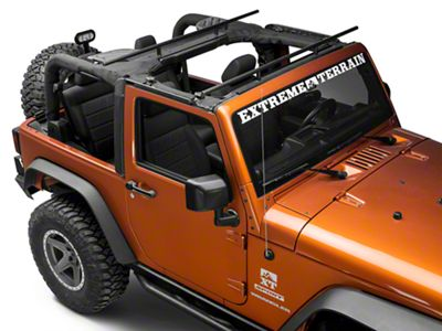 RedRock 4x4 Roll Bar Mount Cargo Rack (07-18 Jeep Wrangler JK)