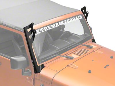 Axial Dual 50 in. Windshield Pillar Light Bar Mount (07-18 Jeep Wrangler JK)