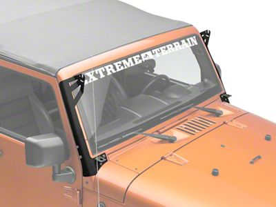 Axial Single 50 in. Windshield Pillar Light Bar Mount w/ Accessory Bracket (07-18 Jeep Wrangler JK)