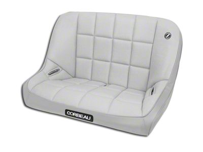 Corbeau 36 in. Baja Bench Suspension Seat - Gray Vinyl/Cloth (87-95 Jeep Wrangler YJ)