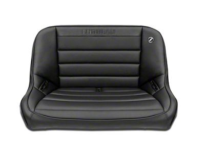 Corbeau 40 in. Baja Bench Suspension Seat - Black Vinyl (97-06 Jeep Wrangler TJ)