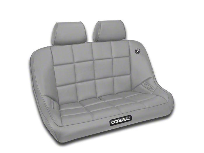 Corbeau Baja Bench Seat Headrest - Gray Vinyl (87-18 Jeep Wrangler YJ, TJ, JK & JL)