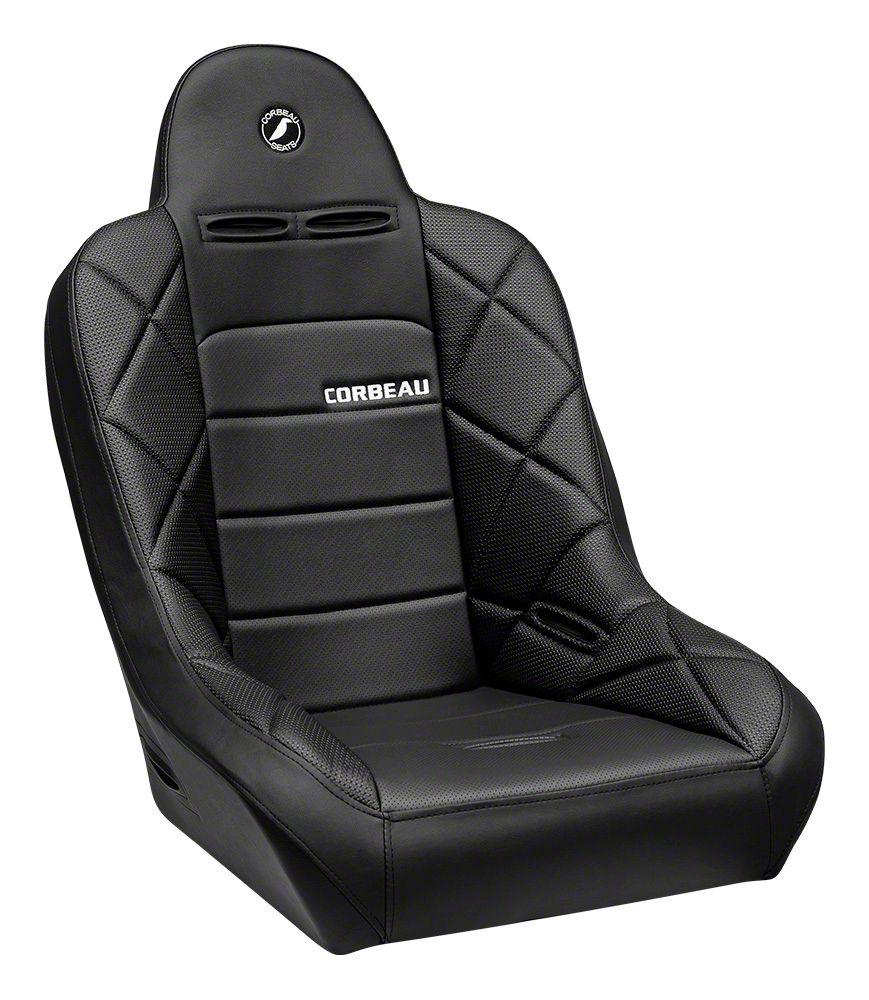 Corbeau Baja JP Suspension Seat - Black Vinyl (87-19 Jeep Wrangler YJ, TJ, JK & JL)