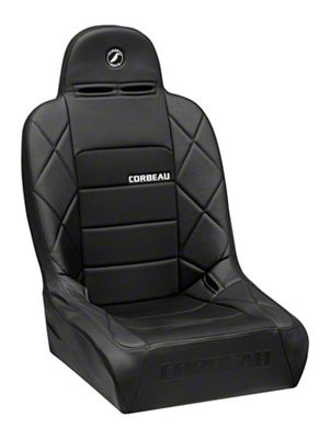 Corbeau Baja JP Wide Suspension Seat - Black Vinyl/Cloth (87-19 Jeep Wrangler YJ, TJ, JK & JL)