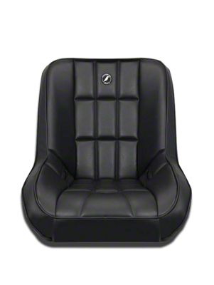 Corbeau Baja Low Back Suspension Seat - Black Vinyl (87-19 Jeep Wrangler YJ, TJ, JK & JL)
