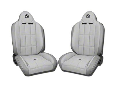 Corbeau Baja RS Suspension Seat - Gray Vinyl/Cloth - Pair (87-18 Jeep Wrangler YJ, TJ, JK & JL)