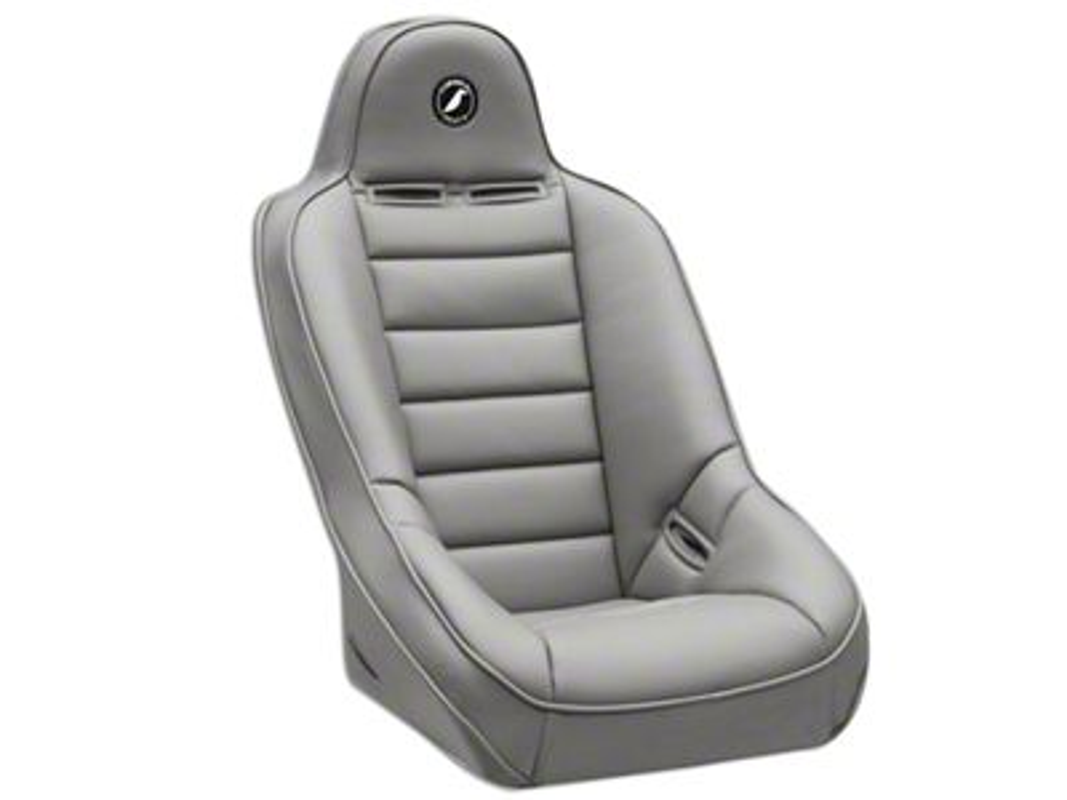 Corbeau Baja Ultra Suspension Seat - Gray Vinyl (87-18 Jeep Wrangler YJ, TJ, JK & JL)