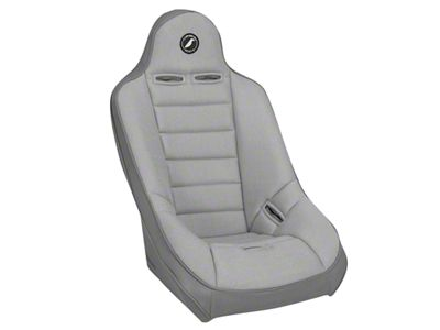 Corbeau Baja Ultra Suspension Seat - Gray Vinyl/Cloth (87-18 Jeep Wrangler YJ, TJ, JK & JL)