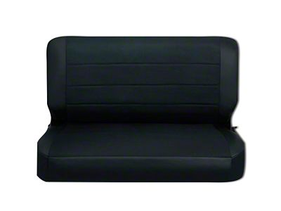 Corbeau Rear Seat Cover - Black Vinyl/Cloth (87-95 Jeep Wrangler YJ)